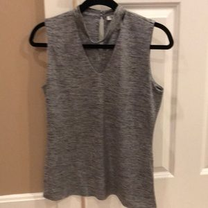 WHBM Shimmery Silver Top. Sz M